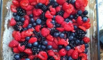 Mixed Berry Clafouti Flaugnarde