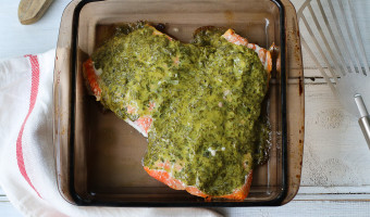 Salmon with Lemon Dijon Basil Sauce