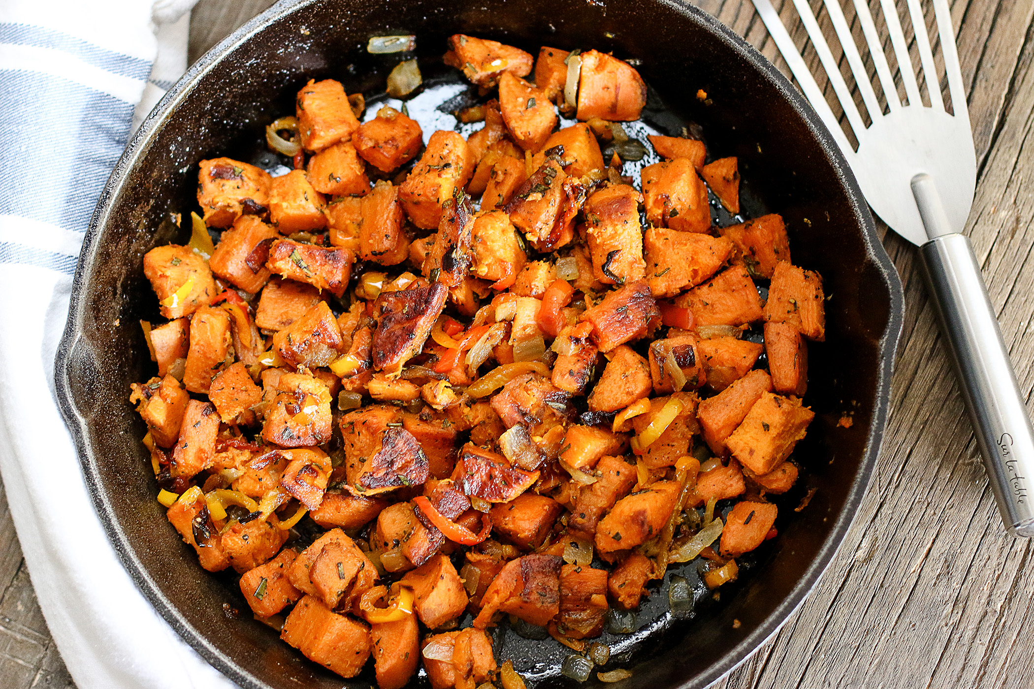Rosemary Sweet Potato Hash - Anna Vocino