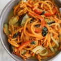 Green Curry Coconut Sweet Potato Noodles
