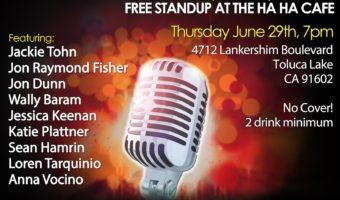 Anna at The Haha Comedy Club, Thursday 6/29 at 7pm, North Hollywood
