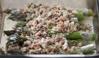 Asparagus with Prosciutto Crumbles