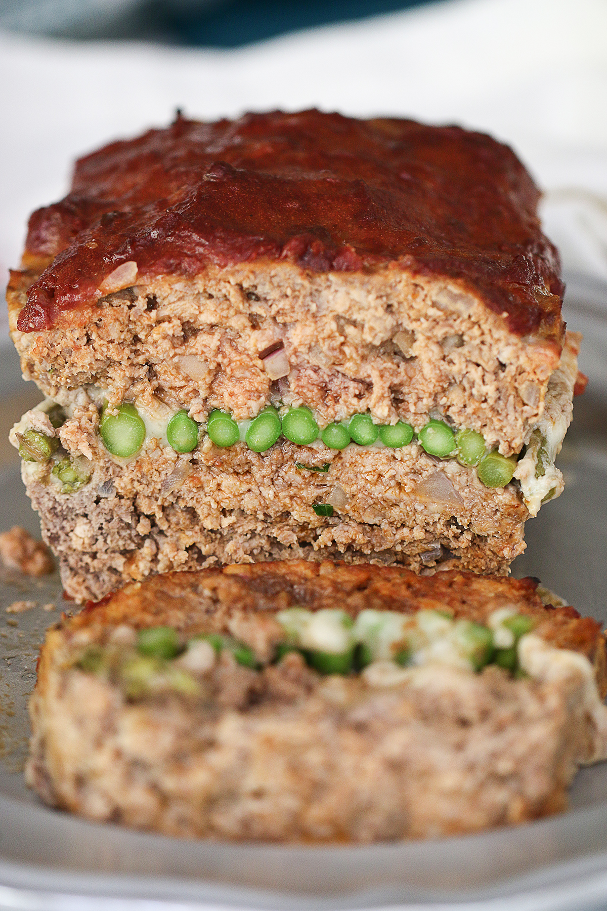 Asparagus Swiss Stuffed Meatloaf