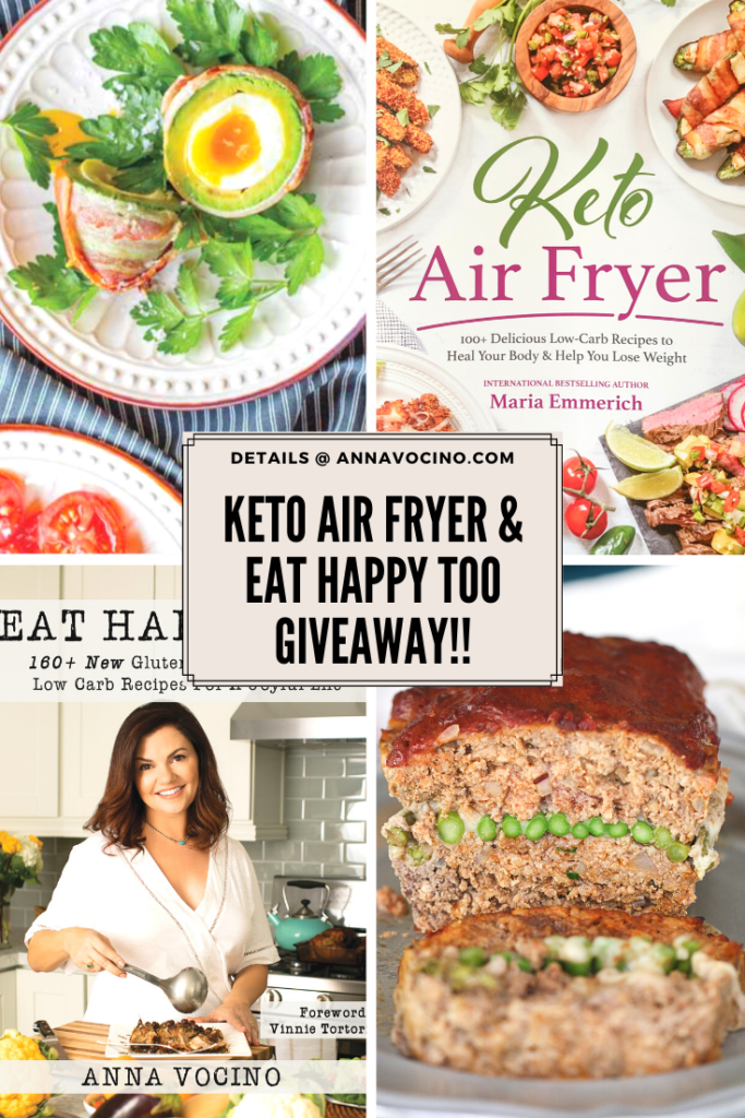 book covers from Keto Air Fryer and Eat Happy Too